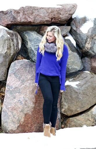 rachel'slookbook blogger sweater jeans shoes scarf