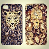 jewels,iphone,phone cover,tiger
