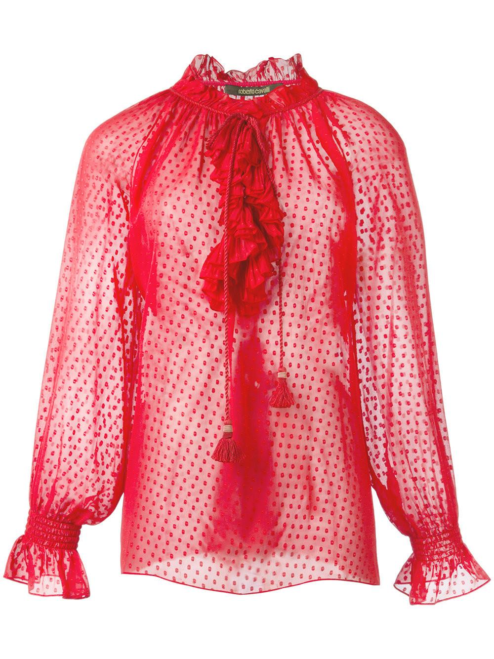 Прозрачные Блузки Красные Купить