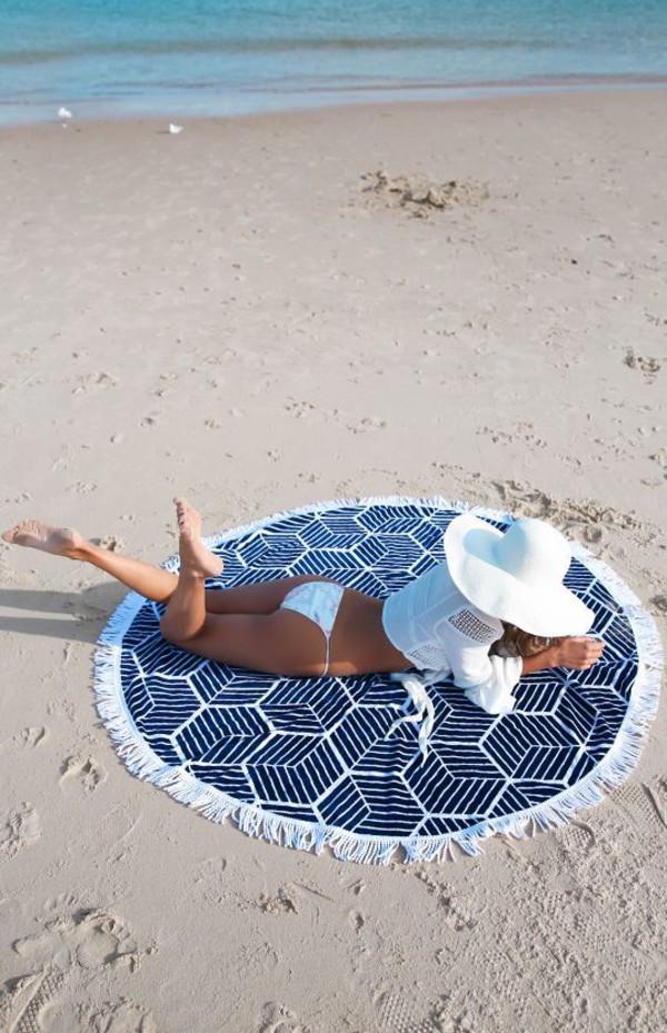 scarf Round Beach Towel beach towel printed towel hat white hat sun hat bikini bottoms bikini swimwear swimwear two piece white swimwear white bikini top white top white crop tops crop tops beach summer