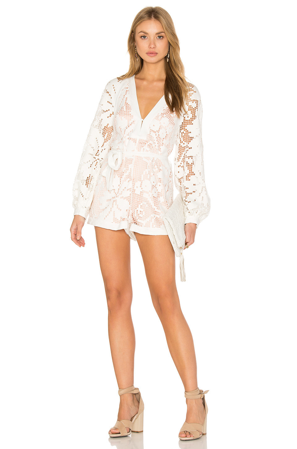 8e4c4f963fe Alice McCall Kokomo Playsuit in white - Wheretoget