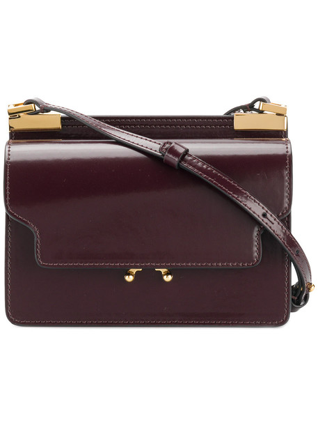 MARNI women bag crossbody bag leather red