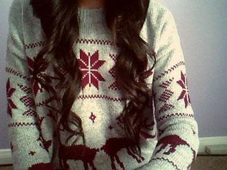 sweater chirstmas deer snowflake holidays