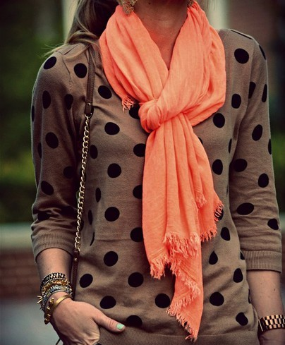 Bright coral fashion scarf · fashion struck · online store powered by storenvy