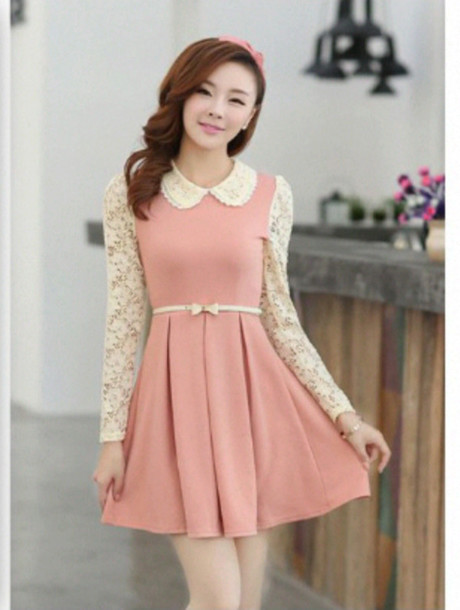 dress pink dress summer fashion vintage chic