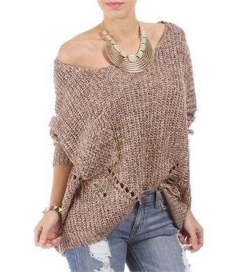 Mocha cozy knit sweater