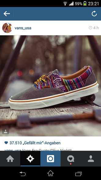 shoes vans colorful sneakers aztec for men