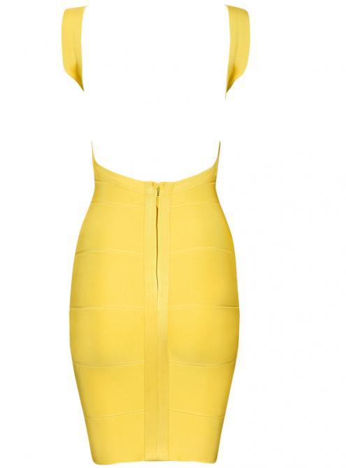 Yellow Halter Bandage Dress H612 $99