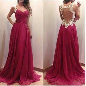 dress prom dress gown floor length dress backless dress