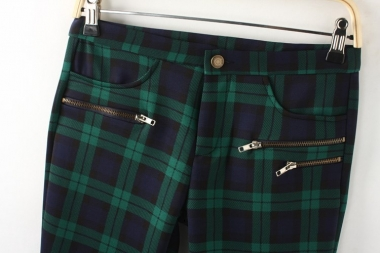 Plaid Pattern Pants