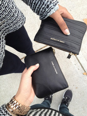bag,purse,comme des garcons,sweater,black,white,knitwear,wool,jumper,jeans,fashion,designer,clutch