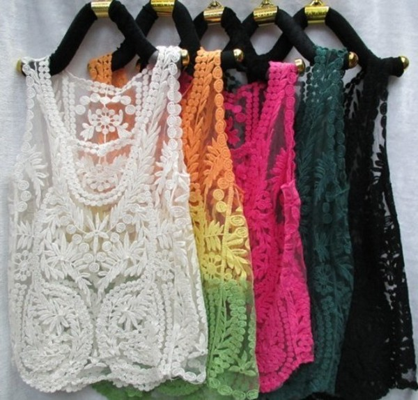 tank top white tank top crop tank top lace boho