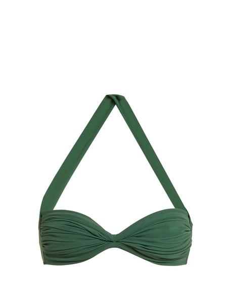 Norma Kamali bikini bikini top green swimwear
