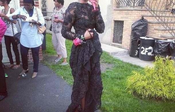 dress lace black gown maxi low back