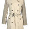 Authentic burberry bespoke beige kensington studded trench coat size 6 | ebay