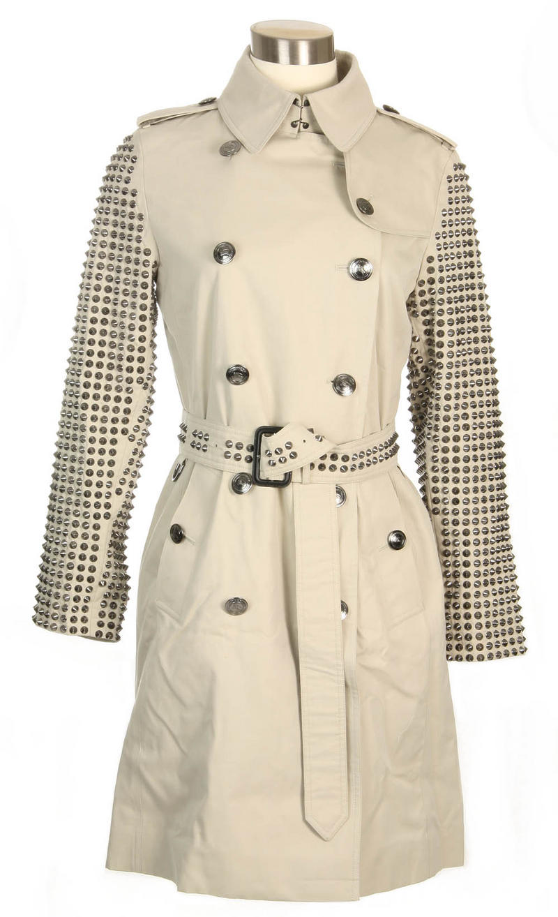 closest burberry glasses le5l  Authentic Burberry Bespoke Beige Kensington Studded Trench Coat Size 6   eBay