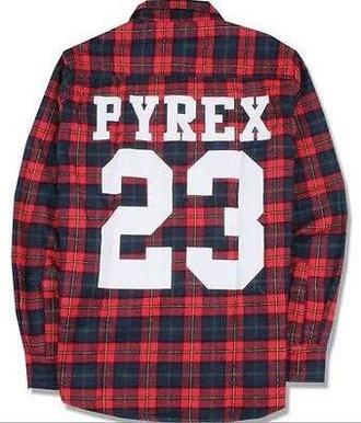 t-shirt dope pyrex plad shirt