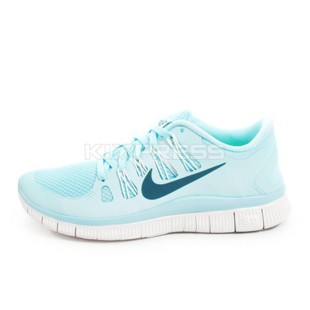 shoes light blue nike free run free runs.