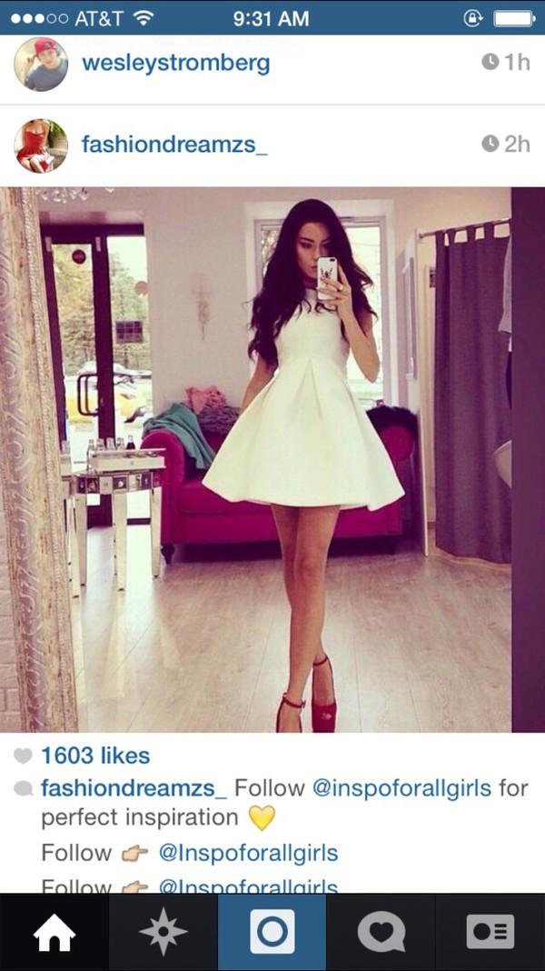 short dress white dress dress