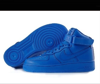shoes royal blue air forces these shoes are blue hightop air forces omes custom nike air force 1 blue nike nike air force force royal blue blue air force ones dress miss sixty blue dress