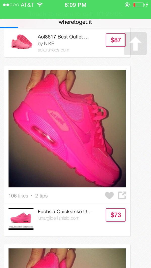 shoes nike air max hot pink