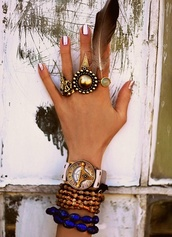 jewels,gold,bronze,blue,watch,ring,beaded,hippie,nail polish,rose gold,silver,compass,stone,bracelets,feathers,triangle,pink,boho,bohemian,hipster,goth hipster,soft grunge,grunge,girly grunge,gold jewelry,black jewels,green jewels,black,green