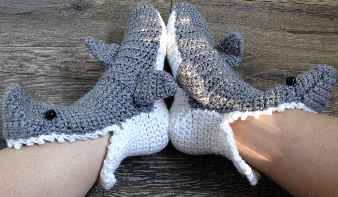 Crochet Shark Shoes Free Pattern : Free Crochet Pattern Shark Slippers myideasbedroom.com