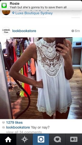 dress lace white dress