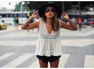blouse white top lace top tank top v neck white shirt