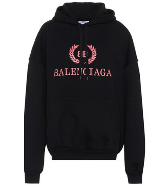 Balenciaga hoodie cotton black sweater