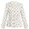 Tulip-print silk-blend blouse