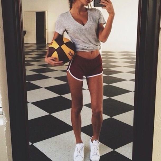 Shorts workout top short sport burgundy gym shorts for White dress workout shirt