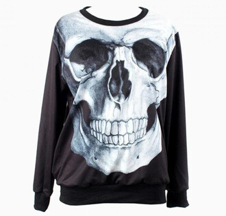 sweater choies sweatshirt skull like aaronchofashion