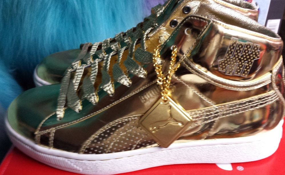 UNDFTD X Puma 24k Gold Mid Undefeated Size 11 Only 72 pairs made 5ba3f8347d