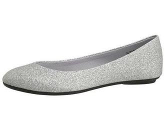 shoes silver shoes glitter shoes flats