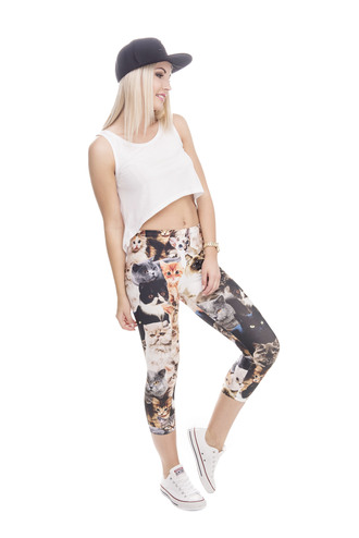 leggings printed leggings cats