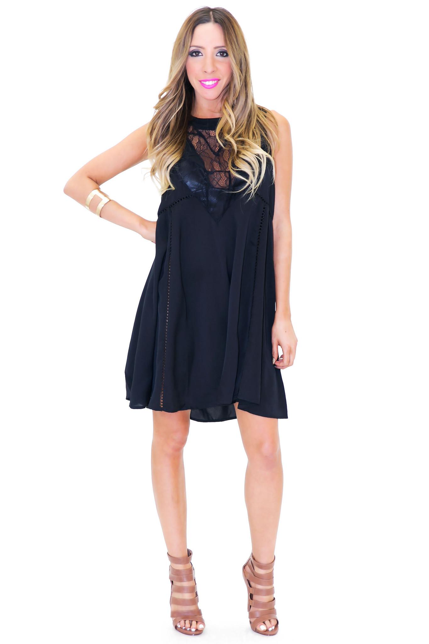 ERICSON LACE DETAIL SHIFT DRESS | Haute & Rebellious