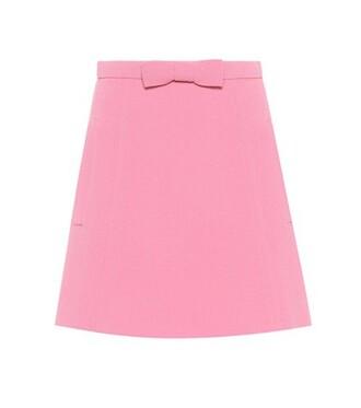 miniskirt wool pink skirt