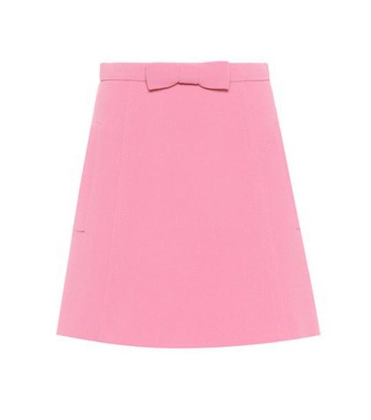 Miu Miu miniskirt wool pink skirt