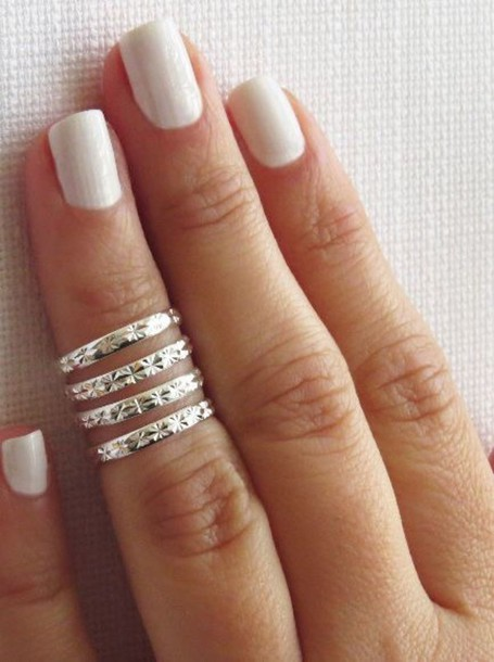 knuckle ring jewels ring silver ring hipster