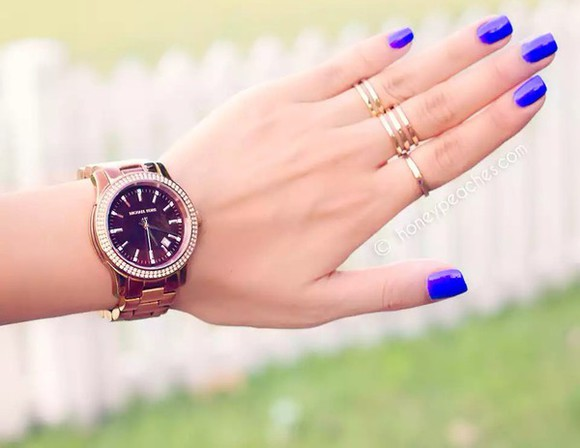 jewels watch nail polish