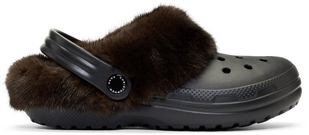 CHRISTOPHER KANE clogs fur black brown shoes