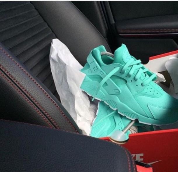 nike air huarache turquoise