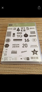 home accessory,stampin up 24 doors in german