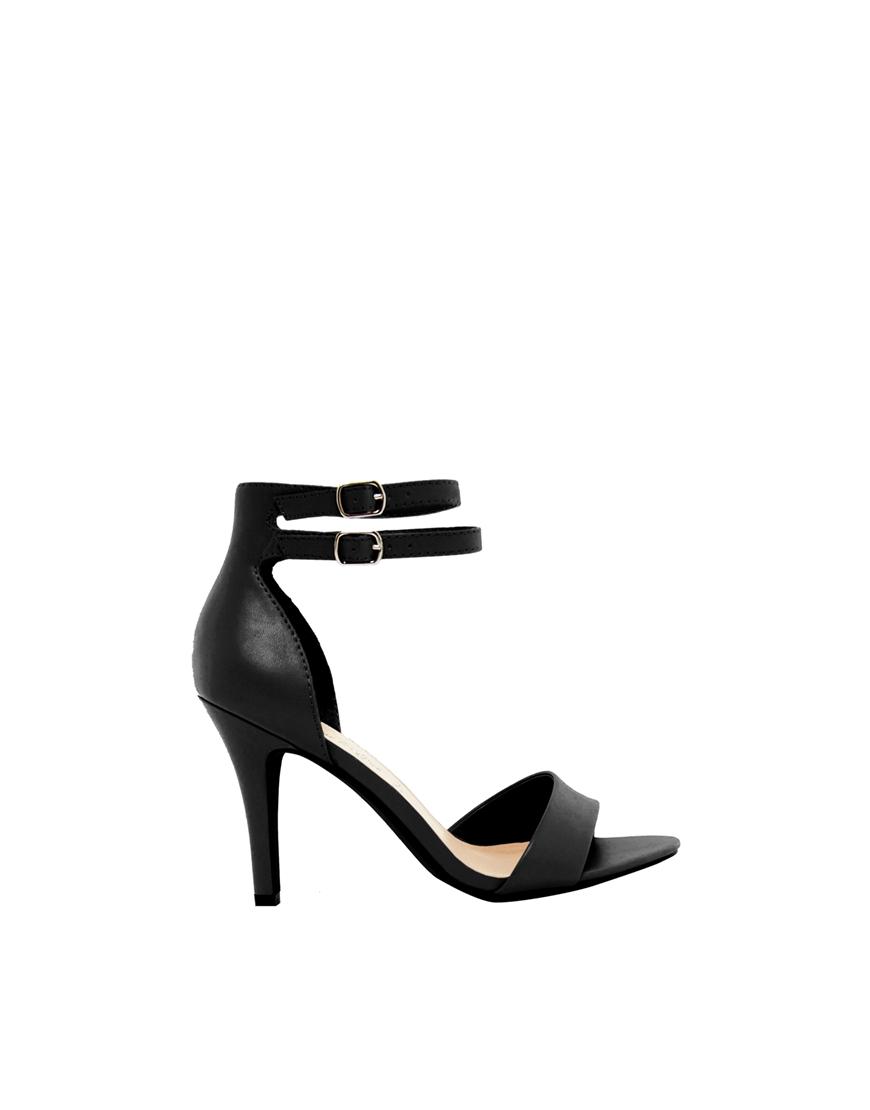 New look taste black single sole sandals at asos.com