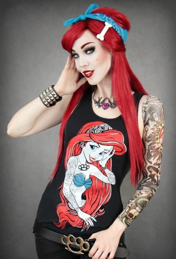 Punk Little Mermaid Little Mermaid Ariel Punk