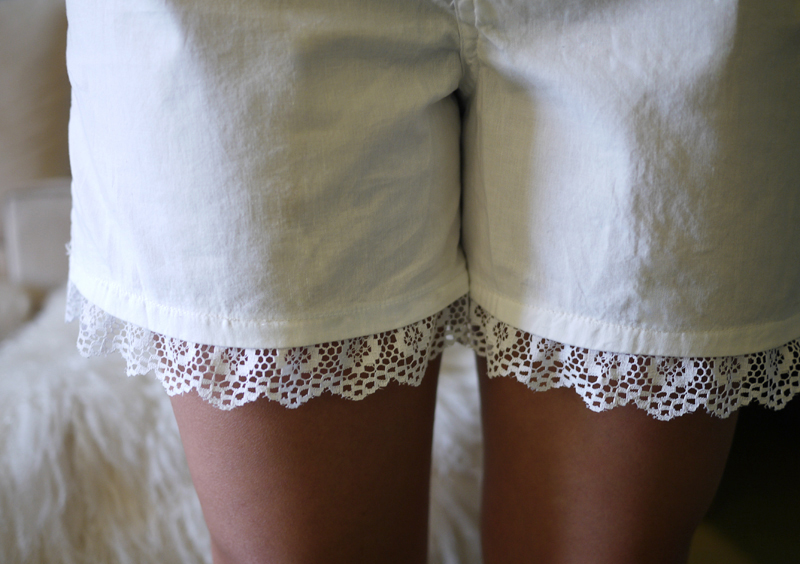 DIY Lace Shorts
