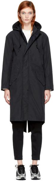 Nikelab parka black coat