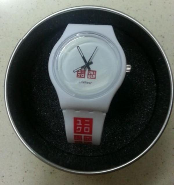 jewels uniqlo watch watch white watch white strap watch uniqlo