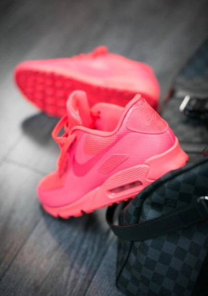 shoes nike sneakers basket pink bag